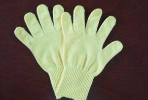 小鸡黄棉纱手套